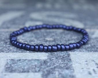 Blue Bracelet, Mens Beaded Bracelet, Anniversary Gift, Mala Bracelet, Gift for Boyfriend, Bracelet, Couples Bracelet, Bead Bracelet