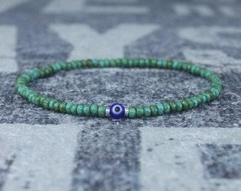 Kabbalah, Mens Beaded Bracelet, Anniversary Gift, Evil Eye Bracelet, Men Gift, Gift for Boyfriend, Bracelet, Couples Bracelet, Bead Bracelet