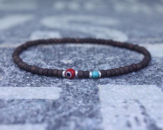 Turquoise Bracelet, Mens gifts, Gemstone bracelet, Mens Bracelet, Birthstone Bracelet, Couples Bracelet, Anniversary Gift, Beaded Bracelet