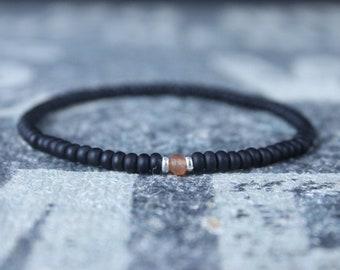 Carnelian Bracelet, Mens Jewelry, Minimalist Bracelet, Gifts for Men, Anniversary Gift, Birthday Gift, Gift for Husband, Boyfriend Gift