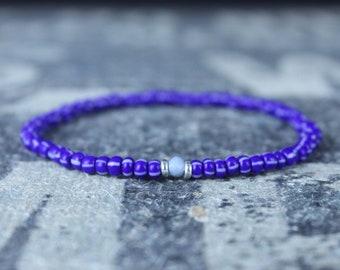 Opal Bracelet, Owee Blue Opal, Mens Jewelry, Boho Bracelet, Minimalist Bracelet, Mens Gift, Boyfriend Gift, Gift for Men