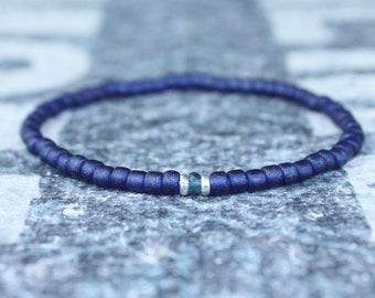 London Blue Topaz Bracelet, Husband Gift,  Mens Jewelry, Boho Bracelet, Minimalist Bracelet, Mens Gift, Boyfriend Gift, Gift for Men