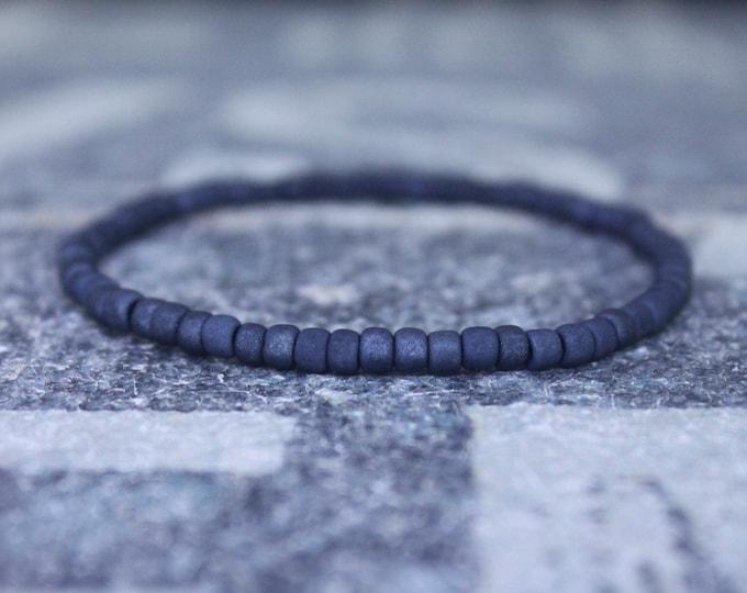 Couples Bracelet for Gift, Mens Bracelet, Mens Beaded Bracelet, Mens Gift for Boyfriend, Masculine Bracelet, Gray Bracelet Men, Husband gift
