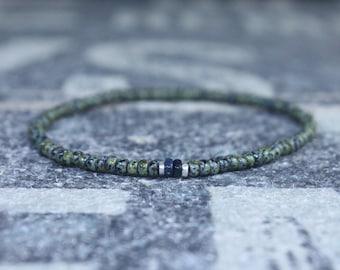 Mens opal bracelet, Black opal men, Ethiopian opal men, Ethiopian opal bracelet, Mens bracelet with opal, Delicate bracelet, Dainty bracelet