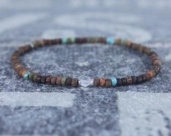Rose Quartz Bracelet, Love Enhancer, Love Amulet,  Men's Bead Bracelets, Husband Gift , Mens Beaded Bracelet, Mens Gift, Boyfriend Gift