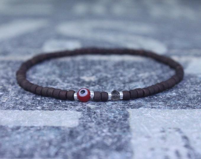 Husband Gift, Smoky Quartz Bracelet, Boyfriend Gift, Gift for Him, Beaded Bracelet, Friendship Bracelet, Mens Jewelry Minimalist Bracelet