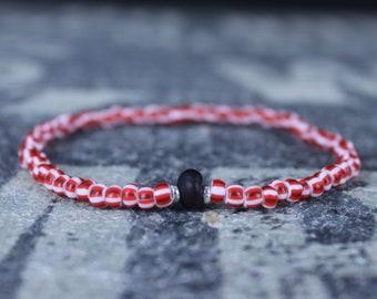 Mens Gift, Amber Bracelet, Boyfriend Gift, Gift for Him, Beaded Bracelet, Friendship Bracelet, Mens Jewelry, Minimalist Bracelet
