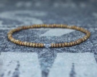 Sky Blue Topaz Bracelet, Birthday Gift, Mens Birthstone, Men Gift, Mens Bracelet, Gemstone Men, Minimalist Bracelet, Beaded Bracelet