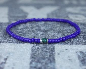 Malachite Bracelet, Mens Bracelet, Mens Beaded Bracelet, Minimalist Jewelry, Mens Gift, Gift for Him, Bead Bracelet, Bracelet Men, Bracelet