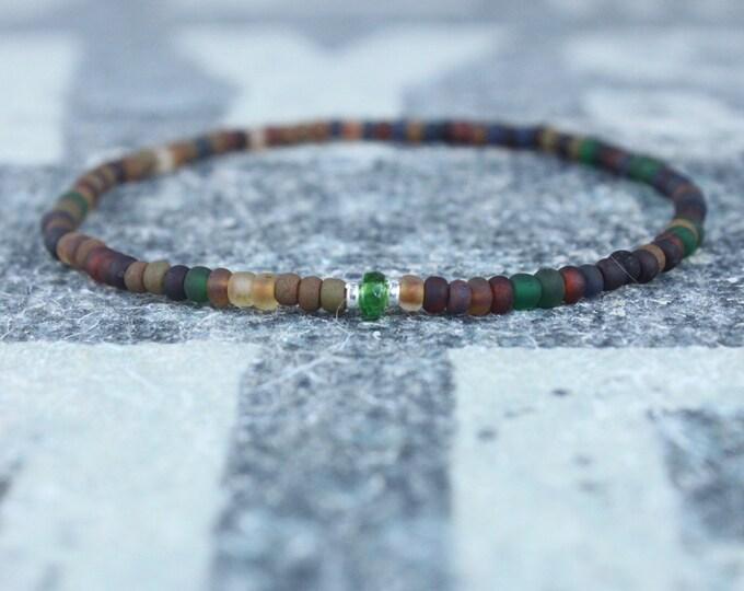 Featured listing image: Green Tourmaline Bracelet, Mens Jewelry, Minimalist Bracelet, Gifts for Men, Anniversary, Birthday Gift, October birthstone Boyfriend Gift