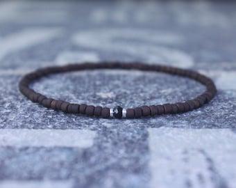 Mens Bracelet, Mens gift, Black Spinel Bracelet, Bracelet Men, Birthday Gift, Boyfriend Gift, Husband Gift, Gift for Him, Gift for Husband