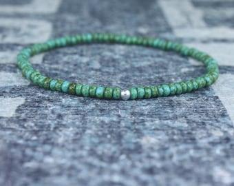 Mens Beaded Bracelet, Mens Bracelet, Minimalist jewelry, Minimalist Bracelet, Mens Jewelry, Beaded Bracelet, Boyfriend Gift, Men's Gift