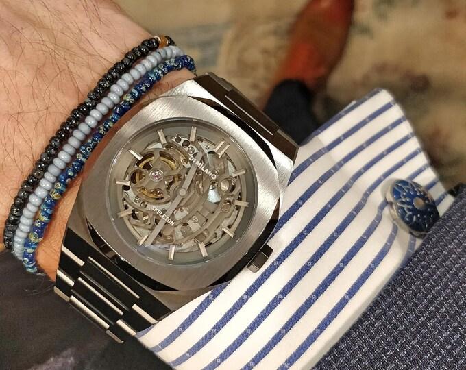 Carnelian Bracelet, Birthday Gift, Gift for Husband, Boyfriend Gift, Seed bead men, Mens Bracelet, Mens beaded bracelet, Mens Jewelry, Set