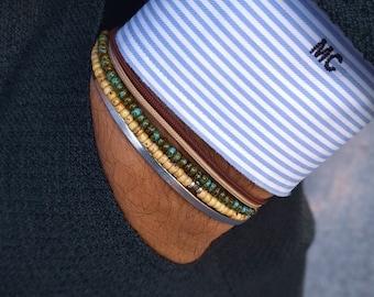 Sapphire Bracelet, Mens Bracelet, Mens Jewelry, Mens Gift, September birthstone, Boyfriend gift, Husband Gift, Mens Beaded Bracelets, Set
