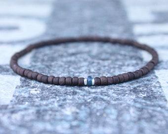 Opal Bracelet, Blue Ethiopian Opal, Mens Jewelry, Boho Bracelet, Minimalist Bracelet, Mens Gift, Boyfriend Gift, Gift for Men