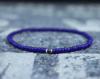 Garnet Bracelet, Mens Bracelet, Mens Beaded Bracelet, Minimalist Jewelry, Mens Gift, Gift for Him, Beaded Bracelet, Bracelet Men, Bracelet