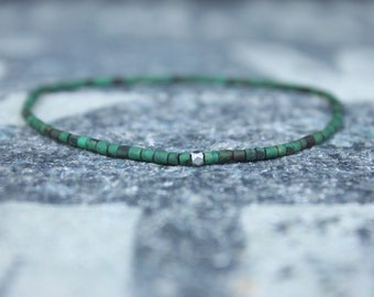 Mens Bracelet, Heishi Turquoise Bracelet, Mala Bracelet, Mens Bracelet, Mens Gift Bracelet, Beaded Bracelet, Bead Bracelet, Mens Jewelry