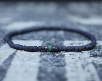 Emerald Bracelet, Mens Bracelet, Mens Gift, Anniversary Gift, May Birthstone, Gemstone Bracelet, Birthstone Bracelet, Couples Bracelet
