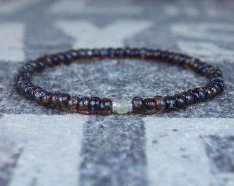Sapphire Bracelet, Mens Bracelet, Mens Jewelry, Mens Gift, September birthstone, Boyfriend gift, Husband Gift, Mens Beaded Bracelet
