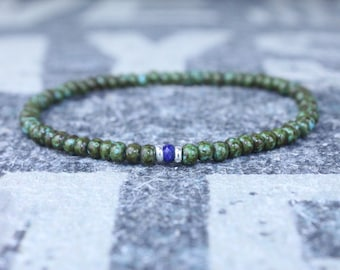 Lapis Lazuli Bracelet, Mens Lapis Lazuli Jewelry, Mens Jewelry, Mens Beaded Bracelet, Friendship Bracelet, Gift for Men, Husband Gift