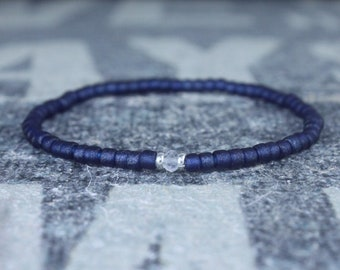 Clear Quartz Bracelet for men, Mens Clear Quartz, Gift Boyfriend, mens gift, Love gift men, Men Bead Bracelet, Husband Gift , Mens Seed Bead