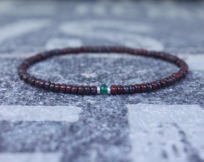 Gifts for Men, Onyx, Friendship Bracelet, Green Onyx Bracelet, Mens Bracelet, Beaded Bracelet Boyfriend Gift for Boyfriend, Gifts for Him