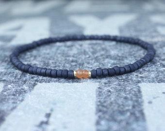 Mens Carnelian Bracelet, Friendship Bracelet, 24k Gold vermeil, Mens Beaded Bracelet, Boyfriend Gift, Gift for Boyfriend, Gifts for Him