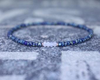 Gifts for Men, Moonstone, 24k Rose Gold vermeil, Mens Bracelet, Beaded Bracelet, Boyfriend Gift, Gift for Boyfriend, Gifts for Him