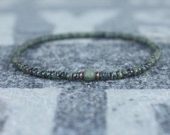 Mens Jade Bracelet, Mens Jewelry, Minimalist Bracelet, Gifts for Men, Anniversary Gift, Birthday Gift, Gift for Husband, Boyfriend Gift
