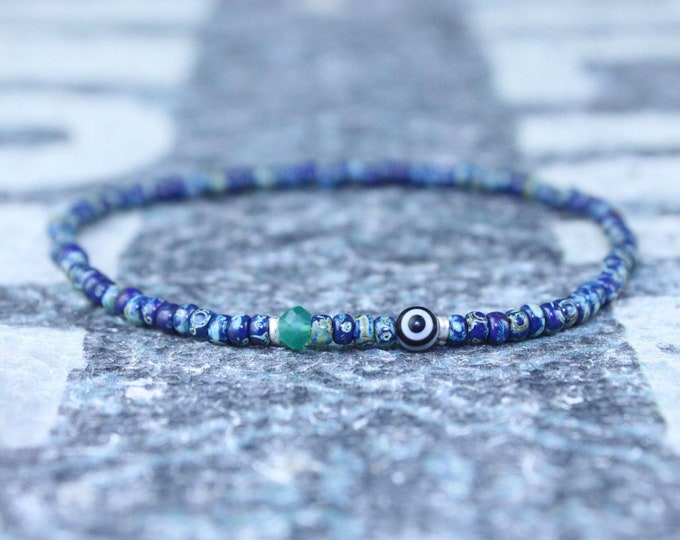 Gifts for Men, Onyx, Friendship Bracelet, Evil Eye Bracelet, Mens Bracelet, Bead Bracelet, Boyfriend Gift, Gift for Boyfriend, Gifts for Him