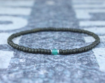 Gifts for Men, Onyx, Friendship Bracelet, Green Onyx, Mens Bracelet, Beaded Bracelet, Boyfriend Gift, Gift for Boyfriend, Gifts for Him