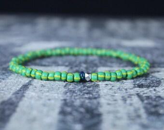 Opal Bracelet, Ethiopian Opal, Mens Jewelry, Boho Bracelet, Minimalist Bracelet, Mens Gift, Boyfriend Gift, Gift for Men