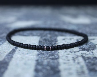 Black Tourmaline Bracelet, Mens Jewelry, 24k Rose Gold vermeil, Gifts Men, Anniversary Gift, Birthday Gift, Gift for Husband, Boyfriend Gift
