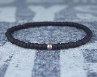 Mens Beaded Bracelet, Rose Gold filled, Bracelet Mens Gift, Gift Boyfriend, Bracelet, Couples Bracelet, Bead Bracelet, Gold Mens bracelet
