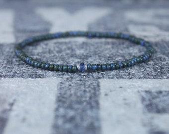 Kyanite Bracelet, Mens Bracelet, Mens Jewelry, Boho Bracelet, Minimalist Bracelet, Mens Gift, Boyfriend Gift, Gift for Men, Bracelet Men