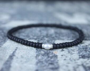Pearl bracelet, Mens Gift, Love Bracelet, Gift for Men, Boyfriend Gift, Husband Gift, Gift for Boyfriend, Gift for Husband, Couples