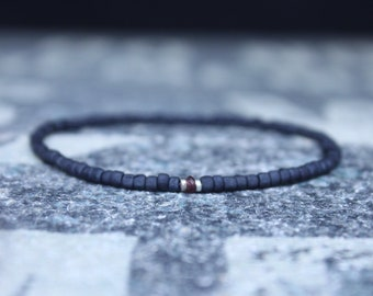 Sapphire Bracelet, Mens Bracelet, Mens Jewelry, Mens Gift, Mens Anniversary gift, Boyfriend gift, Husband Gift, Mens Beaded Bracelet