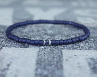 Blue Sapphire Bracelet, Mens Bracelet, Mens Jewelry, Mens Gift, September birthstone, Boyfriend gift, Husband Gift, Mens Beaded Bracelet