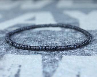 Men's small bead bracelet