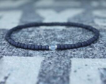 Blue Topaz Mens Bracelet, Sky Blue Topaz, Birthday Gift, Mens Birthstone, Gemstone bracelet, Minimalist Bracelet, Beaded Bracelet