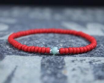 Amazonite Bracelet, Husband Gift,  Mens Jewelry, Boho Bracelet, Minimalist Bracelet, Mens Gift, Boyfriend Gift, Gift for Men