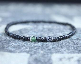 Jade Bracelet, Mens Jewelry, Mens Evil Eye Bracelet, Gifts for Men, Anniversary Gift, Birthday Gift, Gift for Husband, Boyfriend Gift