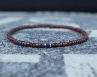 Lapis Lazuli Bracelet, Mens Lapis Lazuli Jewelry, Mens Jewelry, Mens Beaded Bracelet, Friendship Bracelet, Gift for Men, Husband Gift