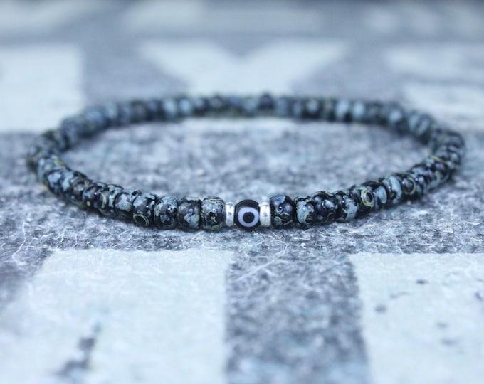 Evil Eye Bracelet, Mens Evil Eye, Anniversary Gift, Mens Gift, Gift Boyfriend, Bracelet, Couples Bracelet, Bead Bracelet, Mens Bracelet Gift