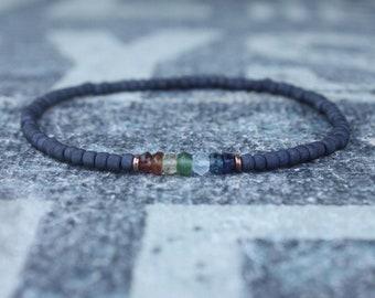 Chakra Bracelet, 7 Chakra Bracelet, 7 Chakra Jewelry Men, Birthstone Bracelet, Boyfriend Gift, Mens Gift Mens Bracelet, Mens Beaded Bracelet
