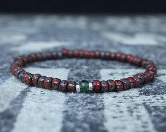 Jade Bracelet, Mens Jewelry, Minimalist Bracelet, Gifts for Men, Anniversary Gift, Birthday Gift, Gift for Husband, Boyfriend Gift