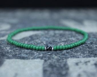 Tourmaline Bracelet, Mens Jewelry, Minimalist Bracelet, Gifts for Men, Anniversary Gift, Birthday Gift, Gift for Husband, Boyfriend Gift