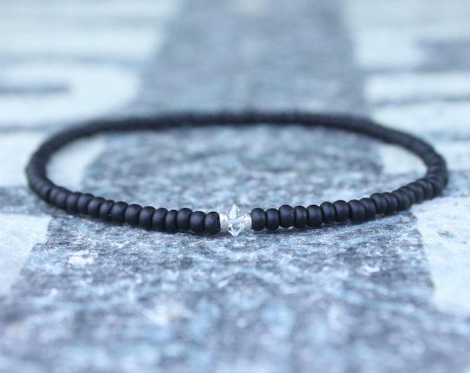 Herkimer Diamond Bracelet, Birthday Gift, Gift for Husband, Boyfriend Gift