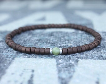 Jade Bracelet, Mens Jewelry, Minimalist Bracelet, Gifts for Men, Anniversary Gift, Birthday Gift, Gift for Husband, Boyfriend Gift