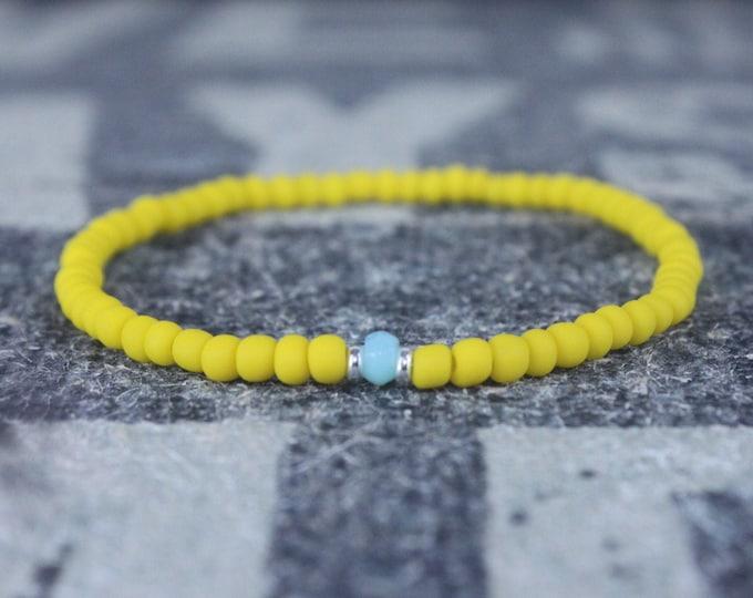 Opal Bracelet, Peruvian Blue Opal, Mens Jewelry, Boho Bracelet, Minimalist Bracelet, Mens Gift, Boyfriend Gift, Gift for Men